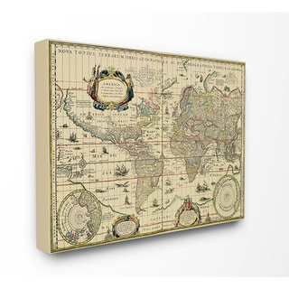 Link to Antique Explorer World Map Canvas Wall Art Similar Items in Canvas Art
