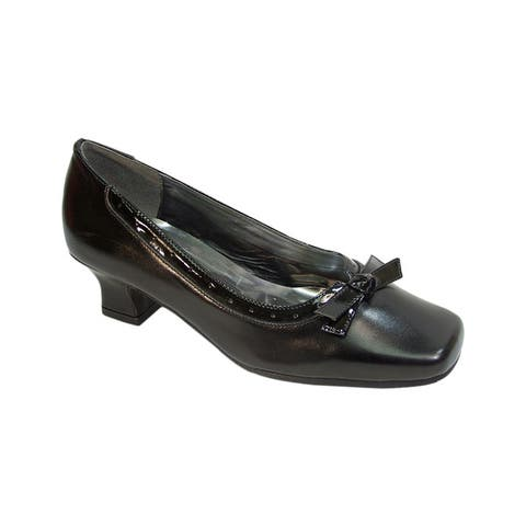 Fic Peerage Bess Womens Extra Wide Width Leather Dress Pump for Any Wardrobe Style