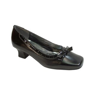 Fic Peerage Bess Women's Extra Wide Width Leather Dress Pump for Any Wardrobe Style