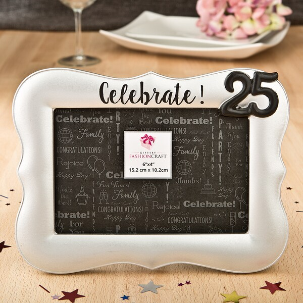 Celebrate! 25th Silver Frame