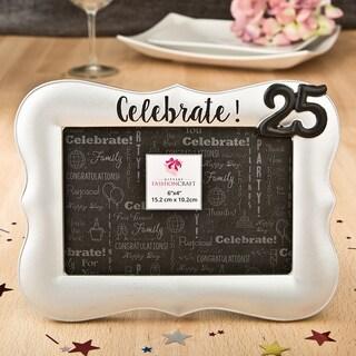 Silver Debossed Celebrate! 25th Frame