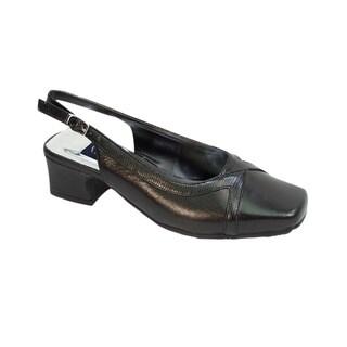 Fic Peerage Tessa Women's Extra Wide Width Leather Pumps
