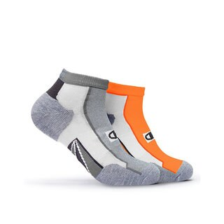 Champion Men's Multicolor Polyester and Spandex Mid-ankle Running Socks (Set of 2)