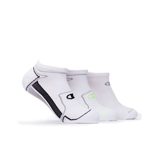 Champion Men's White No-Show Running Socks (Pack of 3)