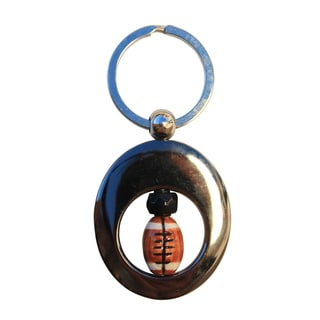 Beadwork By Julie Beaded Football Key Ring
