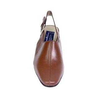 Fic Peerage Zoe Women's Extra Wide Width Leather Slingback Pump