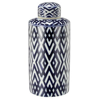 Carlyle Blue and White Ceramic Accent Jar