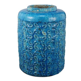 Blue Ceramic Medium Vase
