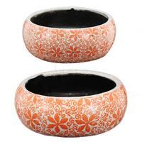 Multicolor Ceramic Planter Bowls (Set of 2)