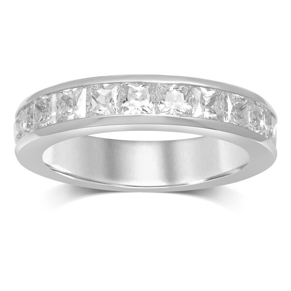 Unending Love 14k White Gold 1 1/2-carat TDW Princess-cut Diamond Band
