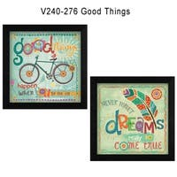 """Good Things"" Collection By Mollie B., Printed Wall Art, Ready To Hang Framed Poster, Black Frame"