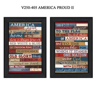 """""""America Proud I"""" Collection By Marla Rae, Printed Wall Art, Ready To Hang Framed Poster, Black Frame"""