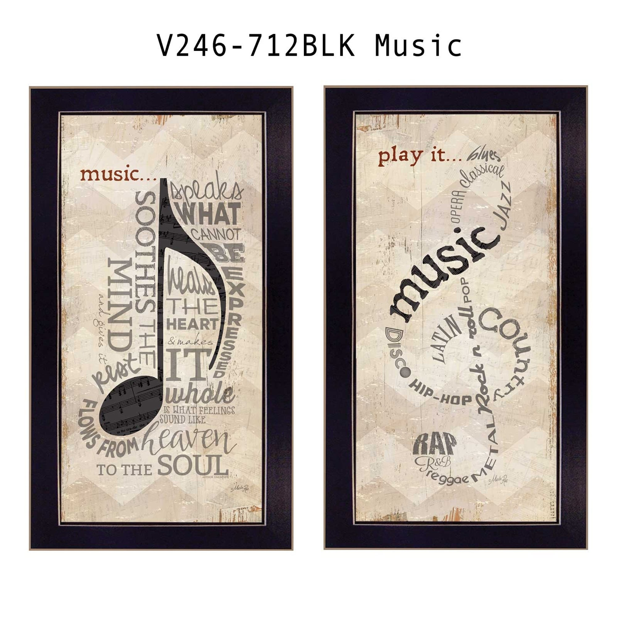"""Trendy Decor 4U """"Music"""" Collection By Marla Rae, Printed ..."""
