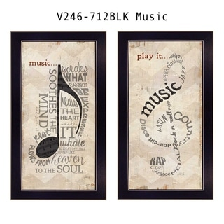 """Music"" by Marla Rae Printed Framed Wall Art"