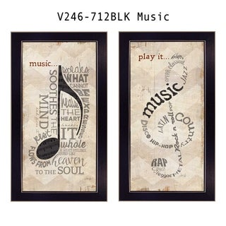 """Music"" Collection By Marla Rae, Ready To Hang Wall Art, Black Frame"