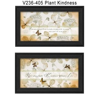 """""""Plant Kindness"""" Collection By Robin-Lee Vieira, Printed Wall Art, Ready To Hang Framed Poster, Black Frame"""