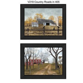 """""""Country Roads"""" Collection By Billy Jacobs, Printed Wall Art, Ready To Hang Framed Poster, Black Frame"""