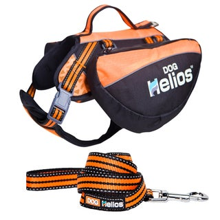 "Helios Freestyle 3-in-1 Explorer Convertible Dog Harness, Backpack and Leash (Option: 8"" - 10"" - Orange)"