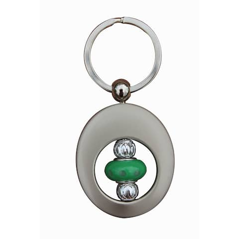 Beadwork By Julie Seafoam Green Lampworked Glass Key Ring