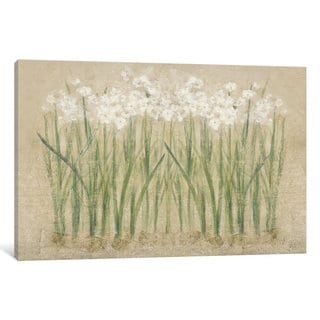 iCanvas Narcissus Cool by Cheri Blum Canvas Print