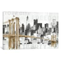 iCanvas New York Skyline I by Avery Tillmon Canvas Print