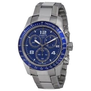 Tissot Men's T0394171104702 V8 Blue Dial Stainless Steel Chronograph Watch