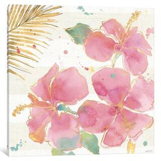 iCanvas Flamingo Fever VII by Anne Tavoletti Canvas Print