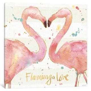 iCanvas Flamingo Fever II by Anne Tavoletti Canvas Print