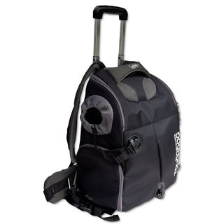 Touchdog Wuffle Duffle Waterproof Nylon Wheeled Backpack Pet Carrier