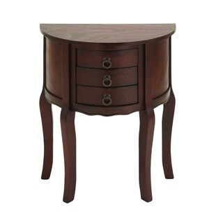 Brown Wood Night Stand With 3-Drawers
