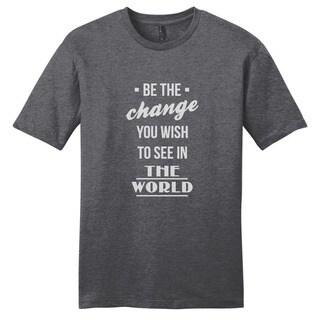 Be the Change Shirt' Motivational Unisex Cotton T-shirt