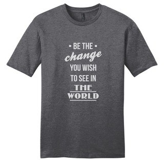 Be the Change Shirt' Motivational Unisex Cotton T-shirt (More options available)