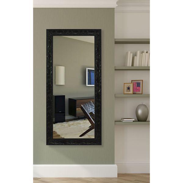 American Made Rayne Black Endicott 31 x 66-inch Wall Vanity Floor Mirror