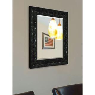 American Made Rayne Black Endicott Vanity Wall Mirror