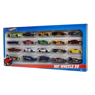Hot Wheels Multicolored Plastic Die-cast Vehicles (Gift Set of 20)