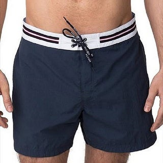 Men's Solid Cotton Swim Shorts