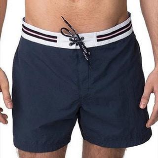Men's Solid Cotton Swim Shorts (Option: Green)