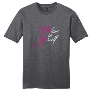 Believe in Yourself Shirt' Motivational Unisex Cotton T-shirt|https://ak1.ostkcdn.com/images/products/11892644/P18787786.jpg?impolicy=medium