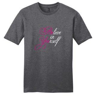Believe in Yourself Shirt' Motivational Unisex Cotton T-shirt