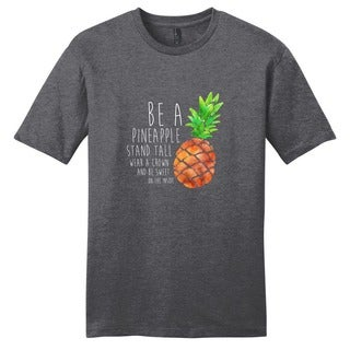 Be a Pineapple Shirt' Motivational Unisex Cotton T-shirt
