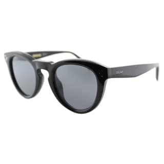 Celine CL 41384/F 807 Black Plastic Round Black Lens Sunglasses