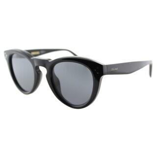 Celine CL 41384/F 807 Black Plastic Round Black Lens Sunglasses