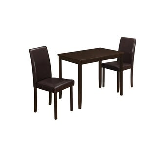Monarch Cappuccino 3-piece Dining Set