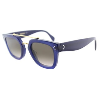 Celine CL 41077 M23 Blue Plastic Rectangle Brown Gradient Lens Sunglasses