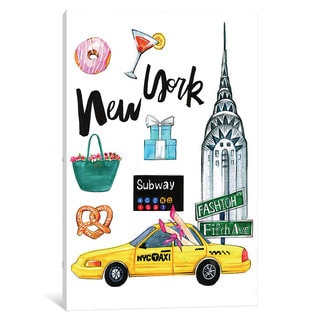 iCanvas New York by Rongrong DeVoe Canvas Print