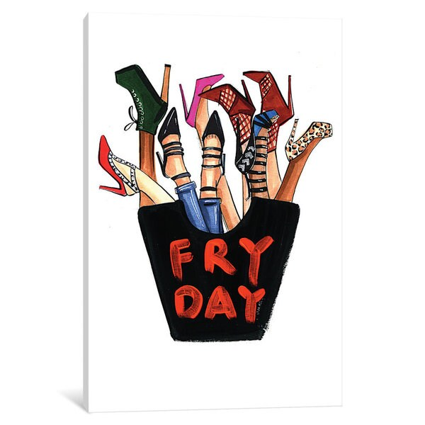 iCanvas Fry-day (Shoes) by Rongrong DeVoe Canvas Print