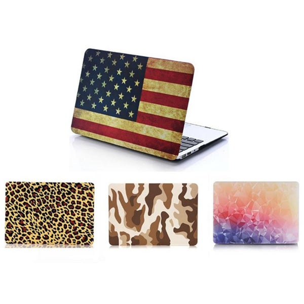 Printed Hard Silicone 2-piece MacBook Air, Pro or Retina Case. Opens flyout.