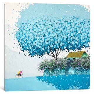 iCanvas Blue Winter by Phan Thu Trang Canvas Print