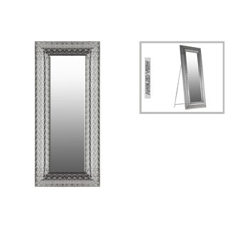 Urban Trends Collection Silver Metal Rectangular Floor Mirror with Easel Stand