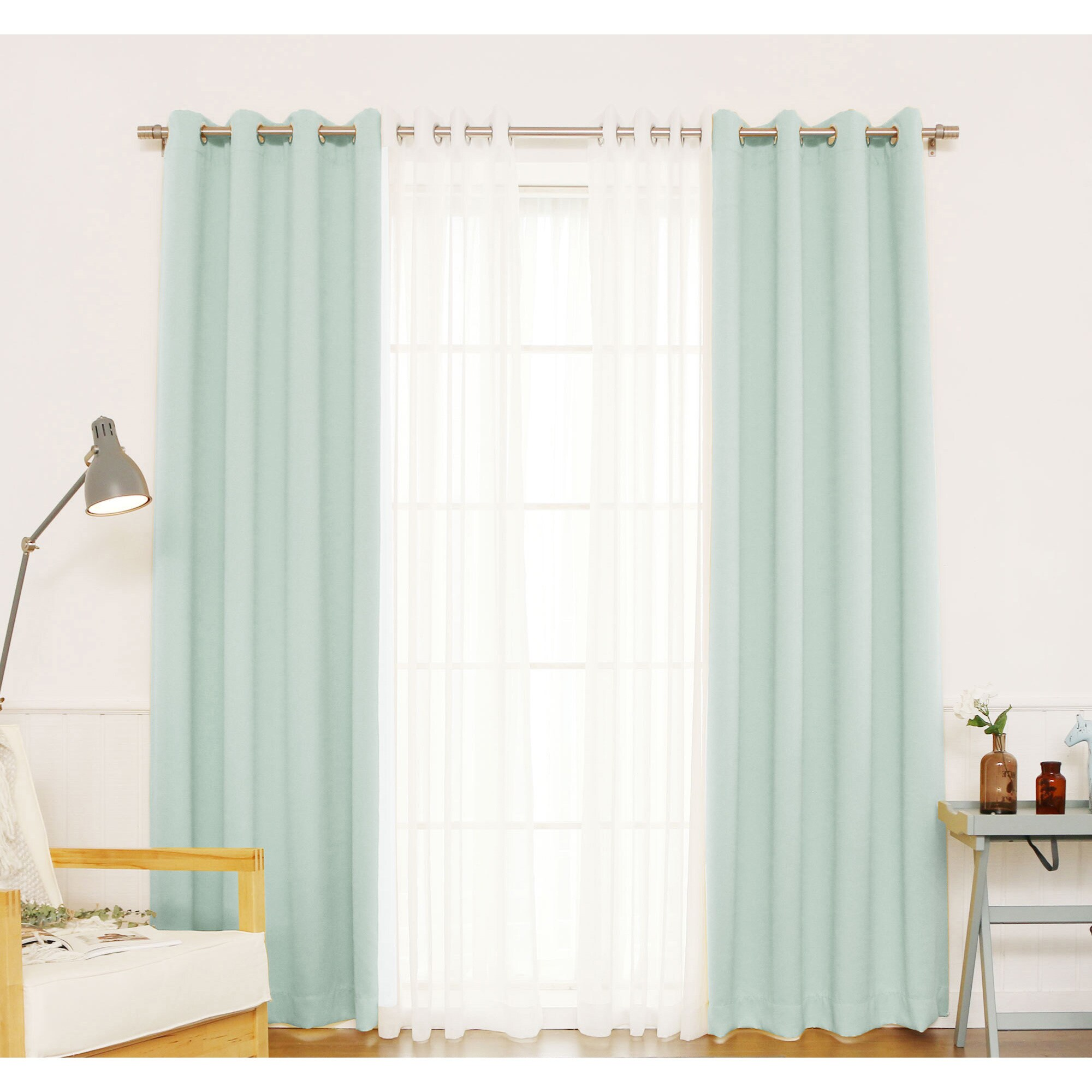 itm and home curtains blackout panel inches curtain pair piece grommet aurora mix match sheer dot